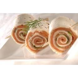 Mini wraps saumon